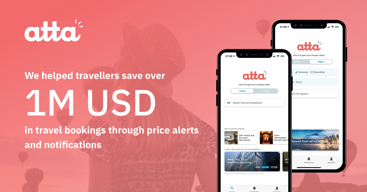 atta Helps Travellers Save 1M USD Through PriceAlerts