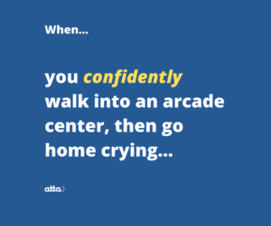 arcade center and cry