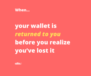 wallet returned to you