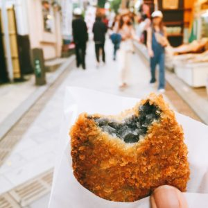 croquette with black filling