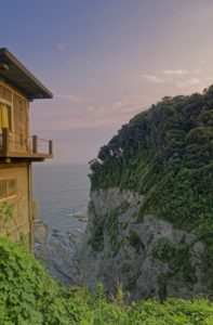 sunset by a cliff in Enoshima
