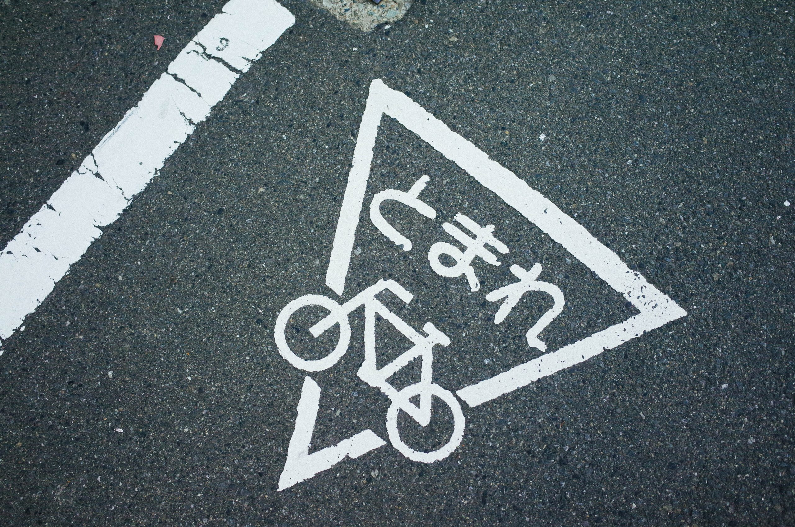 Stop sign for bicycles in Japan